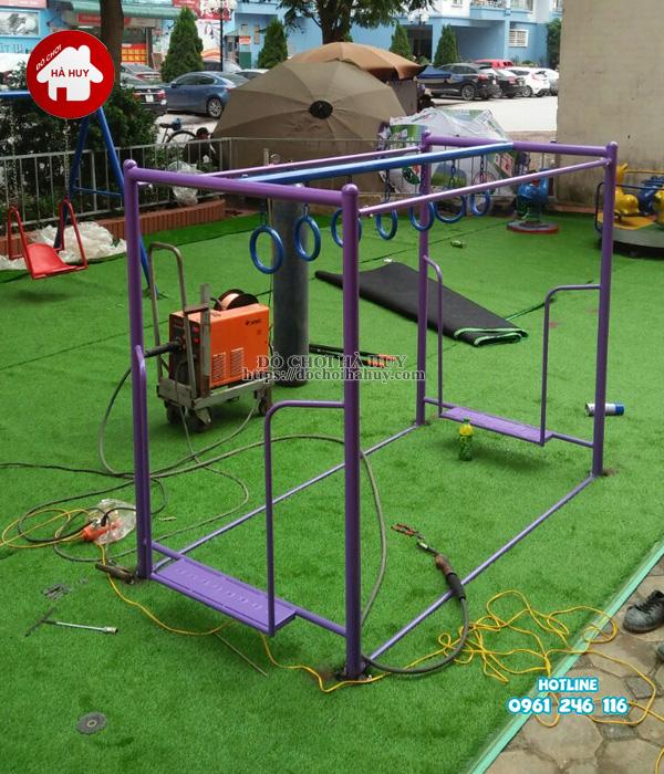Lắp đặt đồ chơi ngoài trời tại khu vui chơi cho bé tại Phúc La, Hà Đông-7