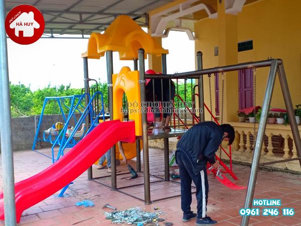 Lắp đặt nhà chòi cầu trượt, xích đu cho khách tại Quảng Ninh-4