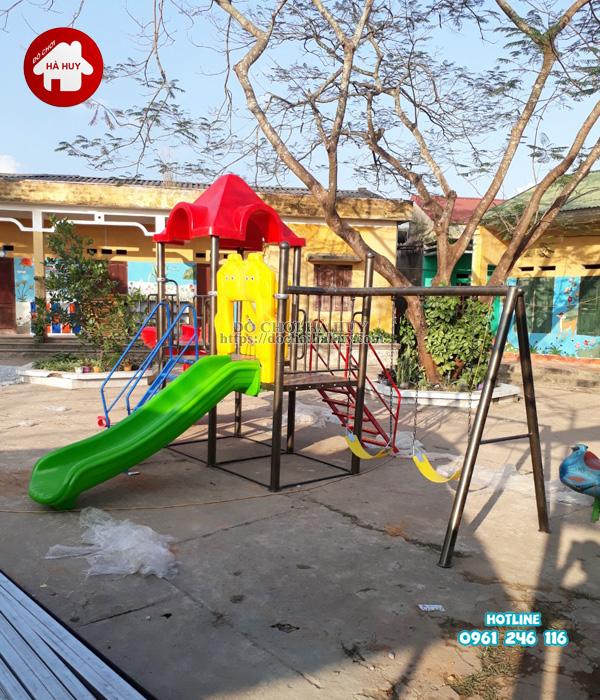 Lắp đặt nhà khối đa năng, bộ tập gym tại Bắc Ninh-1