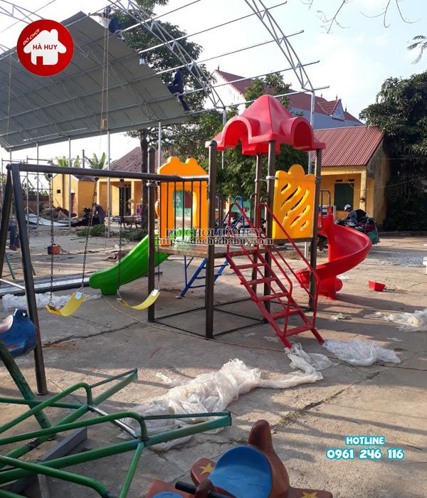 Lắp đặt nhà khối đa năng, bộ tập gym tại Bắc Ninh-2