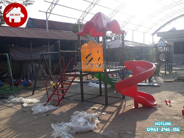 Lắp đặt nhà khối đa năng, bộ tập gym tại Bắc Ninh-3
