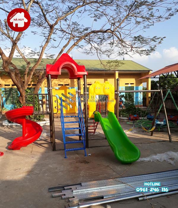 Lắp đặt nhà khối đa năng, bộ tập gym tại Bắc Ninh-5