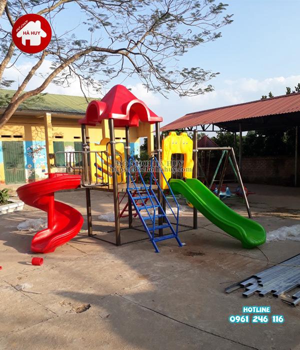 Lắp đặt nhà khối đa năng, bộ tập gym tại Bắc Ninh-6
