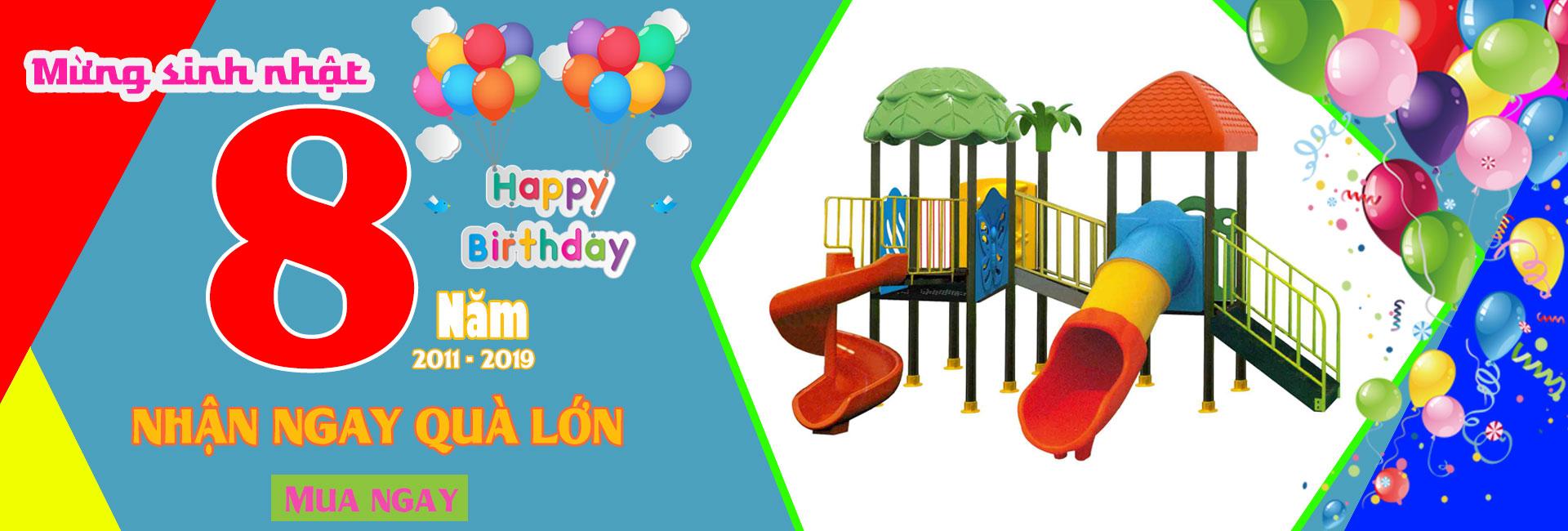Khuyến mại sinh nhật 8 năm đồ chơi Hà Huy