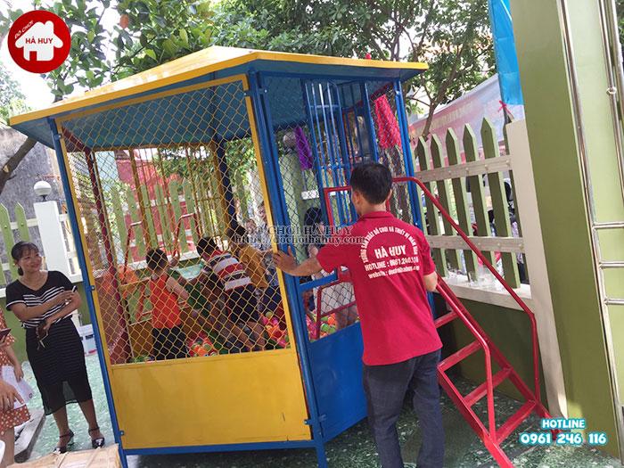 Sản xuất lắp đặt nhà bóng, đồ chơi mầm non tại Nam Định-1