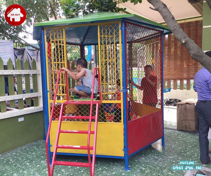 Sản xuất lắp đặt nhà bóng, đồ chơi mầm non tại Nam Định-3