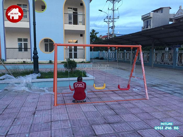 Lắp đặt bàn giao đồ chơi ngoài trời cho trường mầm non tại Hà Nội-11