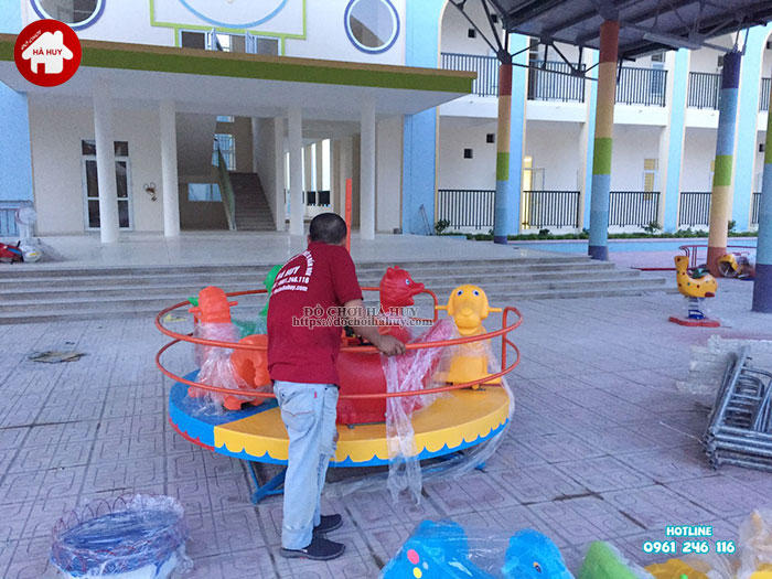 Lắp đặt bàn giao đồ chơi ngoài trời cho trường mầm non tại Hà Nội-12