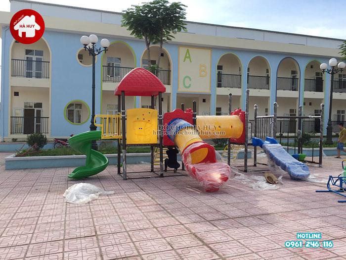 Lắp đặt bàn giao đồ chơi ngoài trời cho trường mầm non tại Hà Nội-2