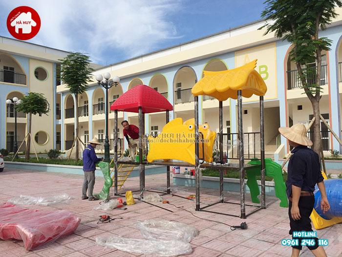 Lắp đặt bàn giao đồ chơi ngoài trời cho trường mầm non tại Hà Nội-4
