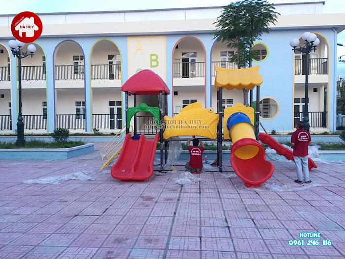 Lắp đặt bàn giao đồ chơi ngoài trời cho trường mầm non tại Hà Nội-5
