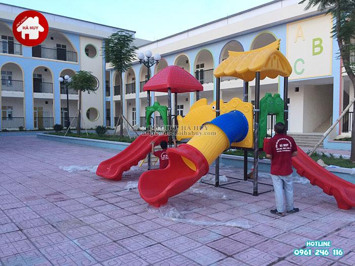 Lắp đặt bàn giao đồ chơi ngoài trời cho trường mầm non tại Hà Nội-6