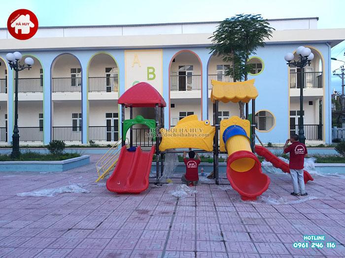 Lắp đặt bàn giao đồ chơi ngoài trời cho trường mầm non tại Hà Nội-7