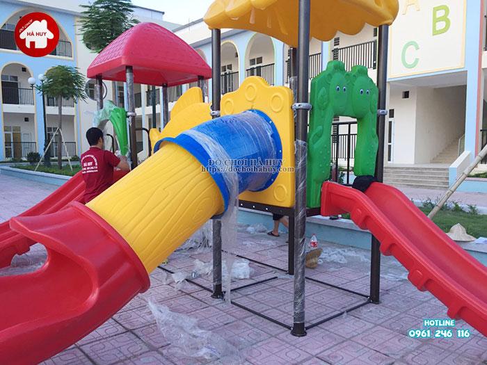 Lắp đặt bàn giao đồ chơi ngoài trời cho trường mầm non tại Hà Nội-8