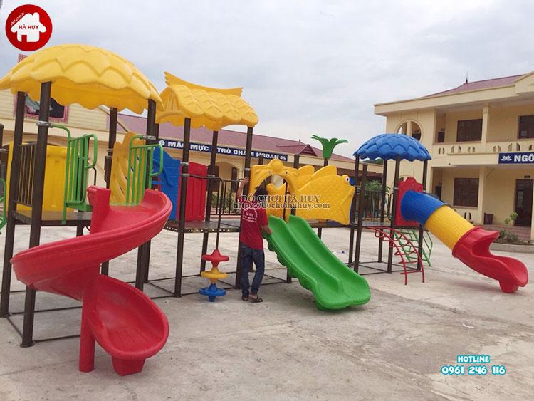 Sản xuất lắp đặt đồ chơi ngoài trời cho trường mầm non tại Bắc Giang-1