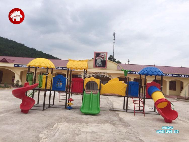 Sản xuất lắp đặt đồ chơi ngoài trời cho trường mầm non tại Bắc Giang-2
