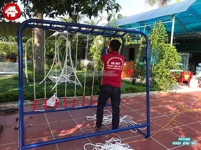 Thang leo đu tay vách dây cho bé mầm non HB1-014-5