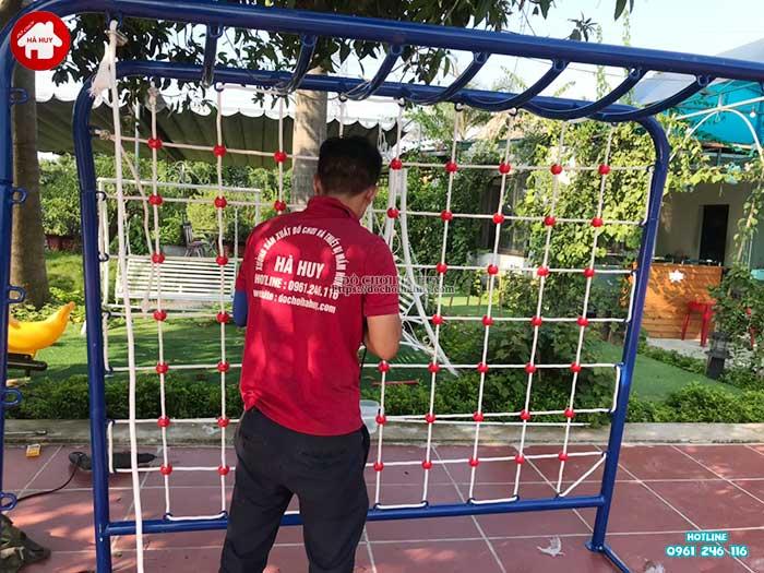 Thang leo đu tay vách dây cho bé mầm non HB1-014-6
