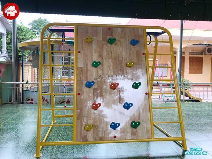 Thang leo đu tay vách dây kèm leo núi cho bé mầm non HB1-015