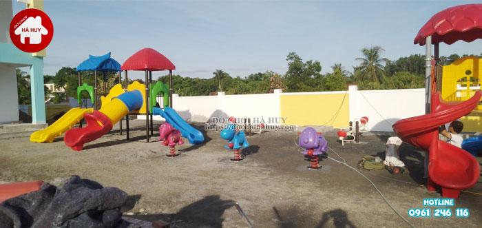 Lắp đặt đồ chơi ngoài trời cho trường mầm non tại Nghệ An-1