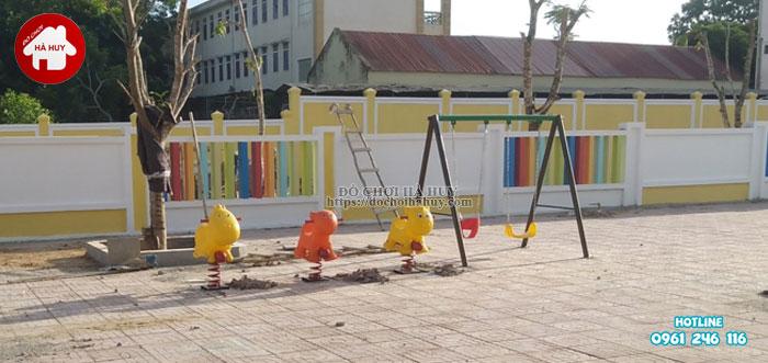 Lắp đặt đồ chơi ngoài trời cho trường mầm non tại Nghệ An-6