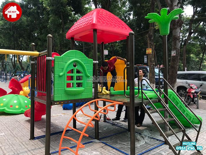 Lắp đặt đồ chơi ngoài trời tại chung cư HH Linh Đàm, Hà Nội-1