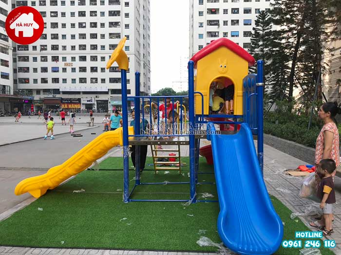 Lắp đặt đồ chơi ngoài trời tại chung cư HH Linh Đàm, Hà Nội-12