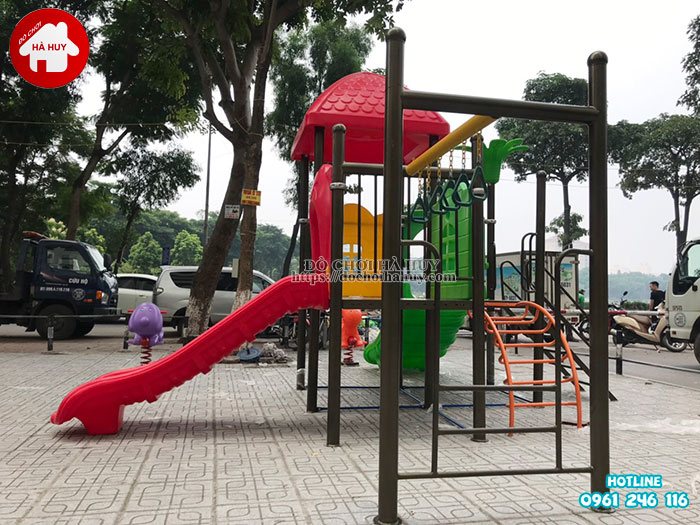 Lắp đặt đồ chơi ngoài trời tại chung cư HH Linh Đàm, Hà Nội-2