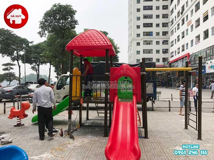Lắp đặt đồ chơi ngoài trời tại chung cư HH Linh Đàm, Hà Nội-4