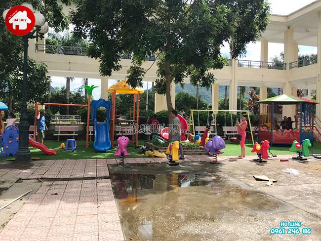 Sản xuất lắp đặt đồ chơi ngoài trời cho bệnh viện tại Mai Châu, Hòa Bình-1