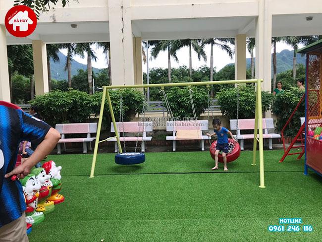 Sản xuất lắp đặt đồ chơi ngoài trời cho bệnh viện tại Mai Châu, Hòa Bình-16