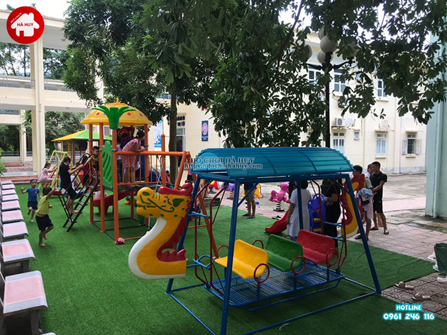 Sản xuất lắp đặt đồ chơi ngoài trời cho bệnh viện tại Mai Châu, Hòa Bình-3