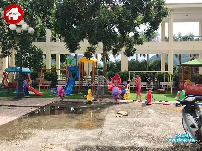 Sản xuất lắp đặt đồ chơi ngoài trời cho bệnh viện tại Mai Châu, Hòa Bình-5