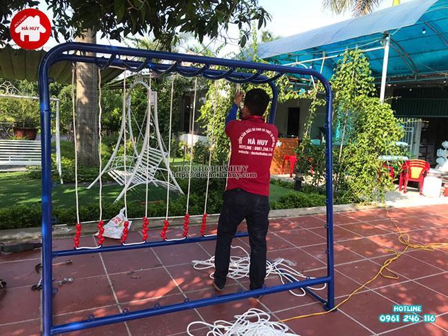 Sản xuất lắp đặt đồ chơi ngoài trời cho quán café vườn tại Hà Nội-1