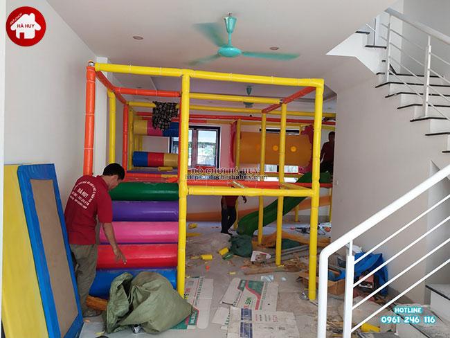 Sản xuất lắp đặt nhà liên hoàn trong nhà tại Athena Xuân Phương, Hà Nội-1