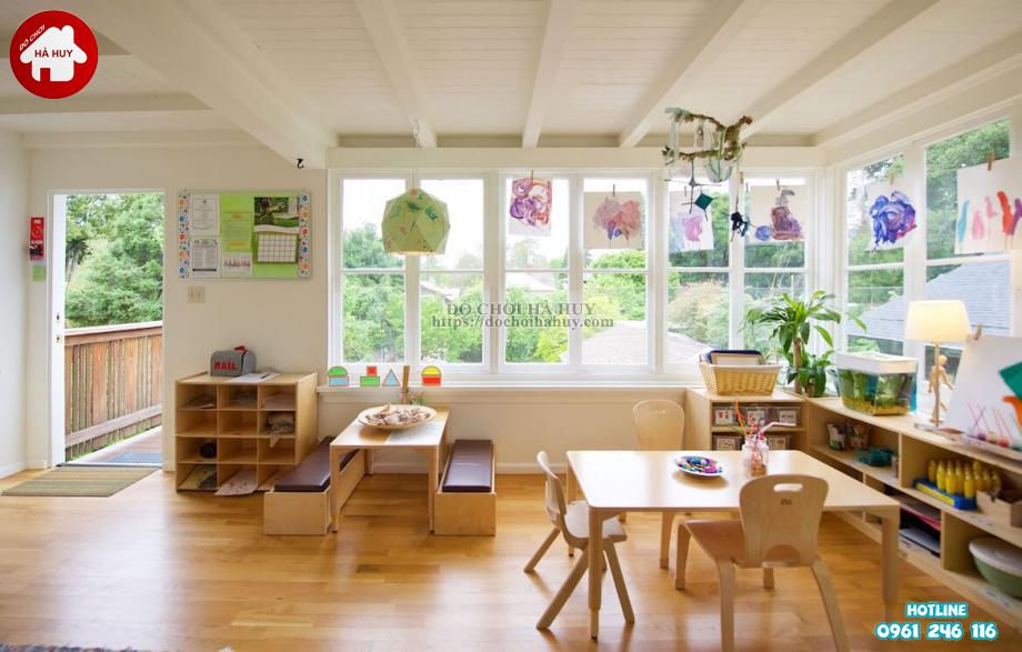 Chọn bàn ghế mầm non phù hợp với không gian lớp học montessori