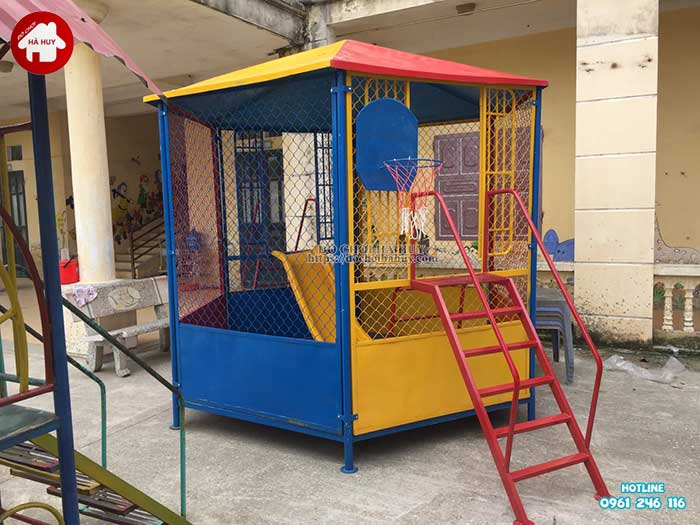 Lắp đặt đồ chơi ngoài trời trường mầm non tại Bắc Ninh-1
