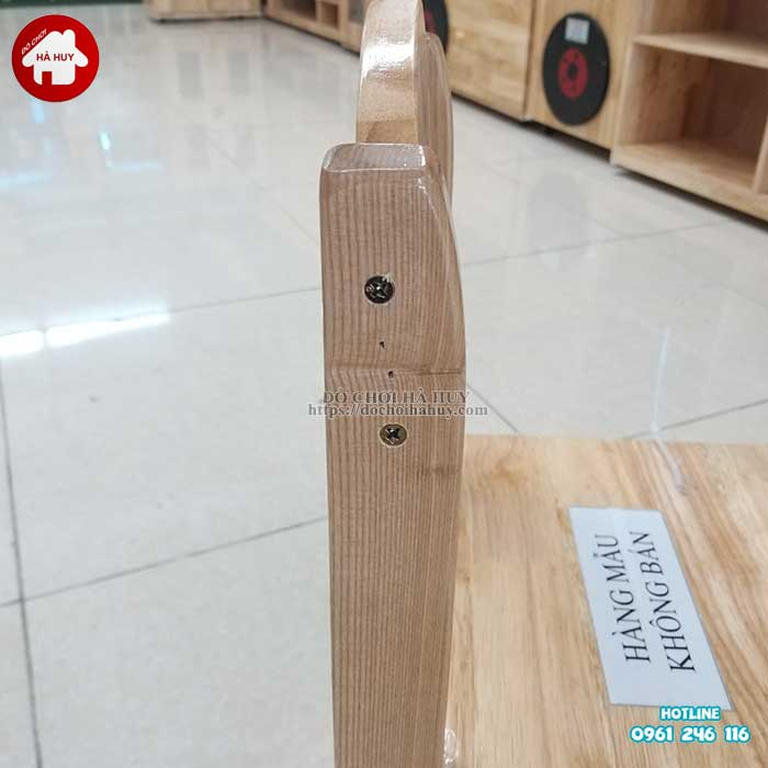 Review đánh giá sản phẩm ghế gỗ mầm non của đồ chơi Hà Huy-3