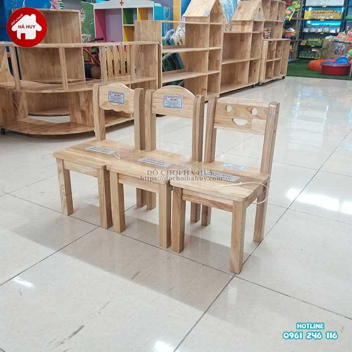 Review đánh giá sản phẩm ghế gỗ mầm non của đồ chơi Hà Huy-5