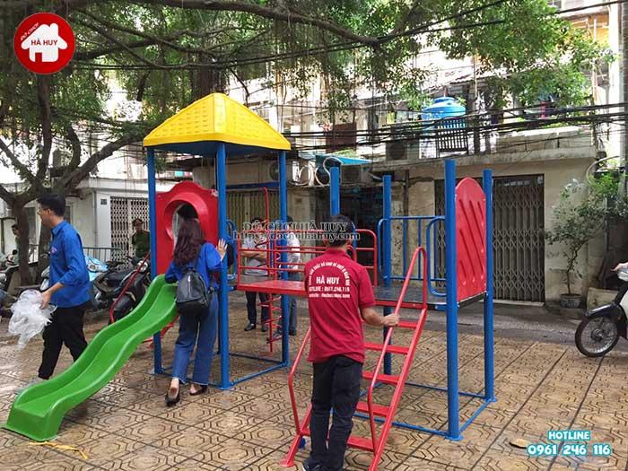 Sản xuất lắp đặt đồ chơi ngoài trời cho Quận Đoàn, Ba Đình, Hà Nội -1