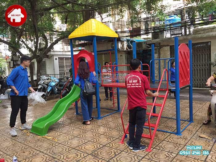 Sản xuất lắp đặt đồ chơi ngoài trời cho Quận Đoàn, Ba Đình, Hà Nội -2