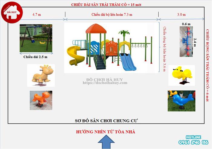 Sản xuất lắp đặt đồ chơi ngoài trời tại sân chơi khu chung cư tại Hà Nội-1