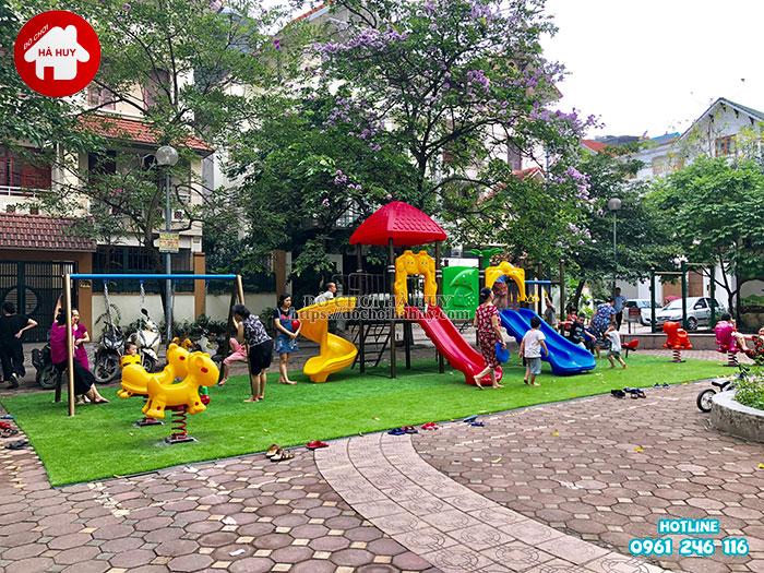 Sản xuất lắp đặt đồ chơi ngoài trời tại sân chơi khu chung cư tại Hà Nội-2
