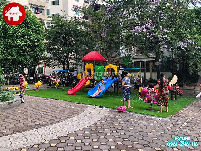 Sản xuất lắp đặt đồ chơi ngoài trời tại sân chơi khu chung cư tại Hà Nội-3