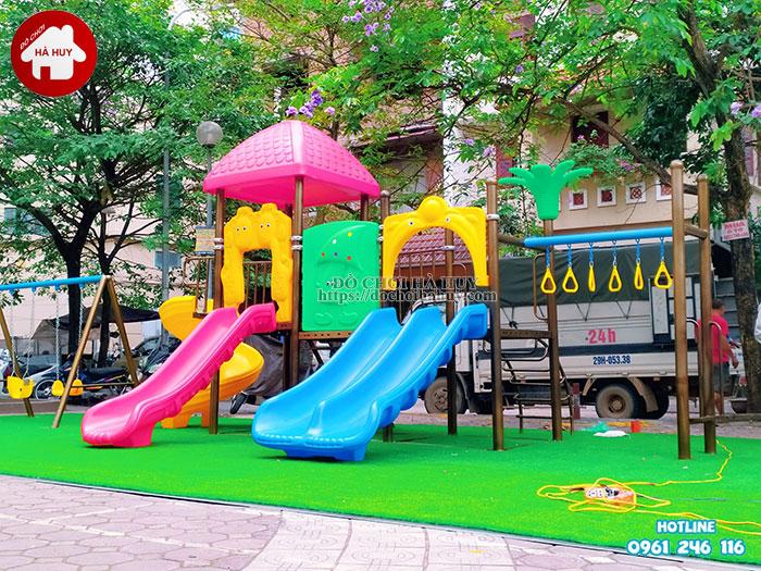 Sản xuất lắp đặt đồ chơi ngoài trời tại sân chơi khu chung cư tại Hà Nội-4
