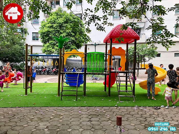 Sản xuất lắp đặt đồ chơi ngoài trời tại sân chơi khu chung cư tại Hà Nội-6