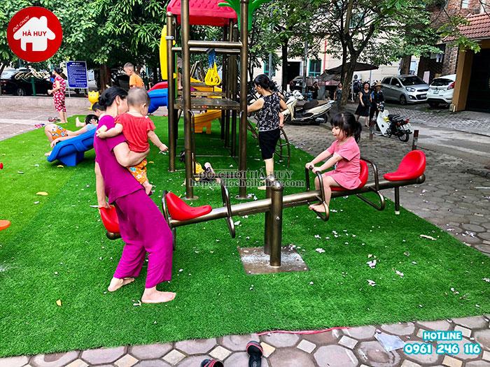 Sản xuất lắp đặt đồ chơi ngoài trời tại sân chơi khu chung cư tại Hà Nội-7