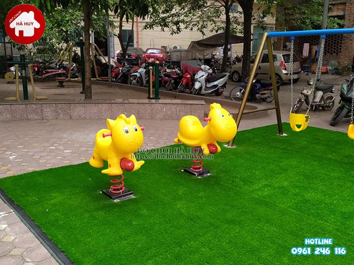 Sản xuất lắp đặt đồ chơi ngoài trời tại sân chơi khu chung cư tại Hà Nội-9