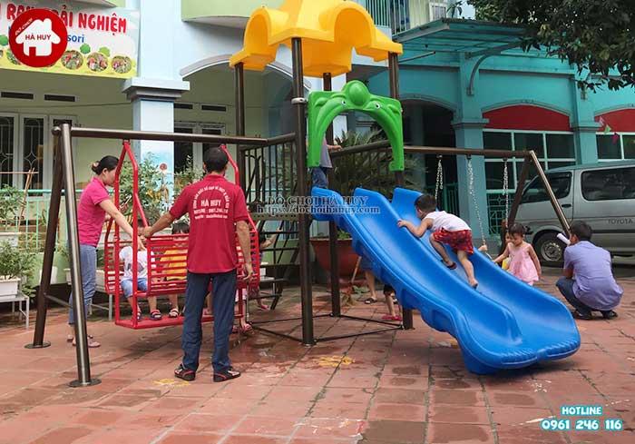 Sản xuất lắp đặt đồ chơi ngoài trời trường mầm non tại Hưng Yên-1