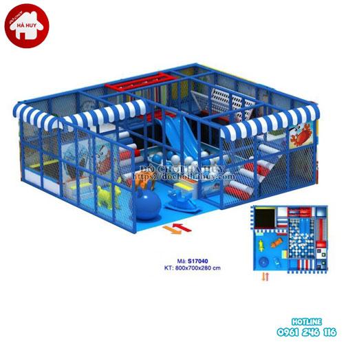 Khu vui chơi liên hoàn trong nhà cho trẻ hiện đại LH-007
